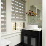 contemporary bathroom blinds